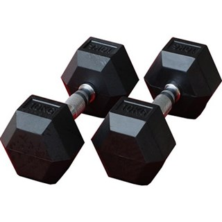 10kg Hexagonal Fitness Double Dumbbell